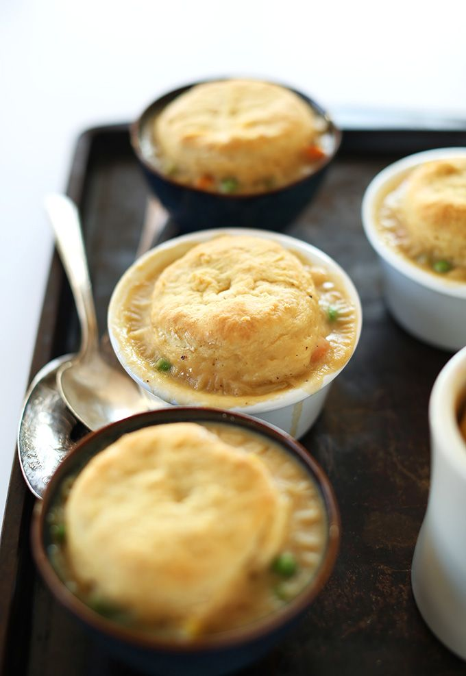 1 Hour Vegan Pot Pies! Topped with flaky, from scratch vegan biscuits - so creamy, delicious and comforting!