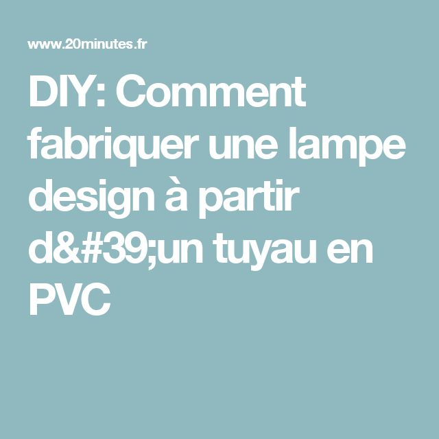 17 meilleures id es propos de lampe en tuyau sur. Black Bedroom Furniture Sets. Home Design Ideas