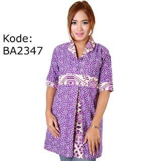 Batik warna ungu dari GaleriPos untuk wanita