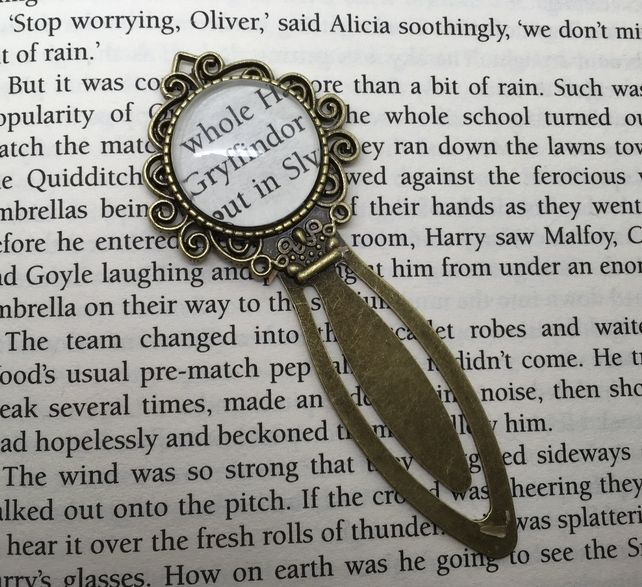 Gryffindor - bookmark made from recycled page of Harry Potter book - £8 - One…