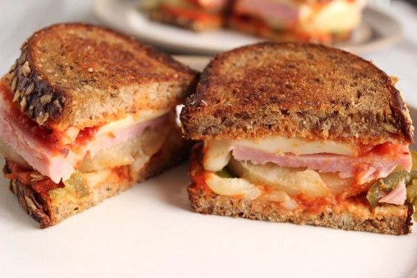 Hawaiian Pizza Grilled Cheese Sandwiches // Healthy Food for Living