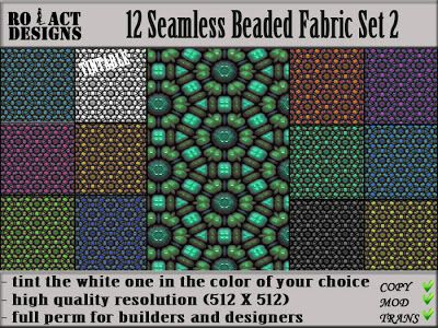 Ro!Act Designs 12 Seamless Beaded Fabric Set 2