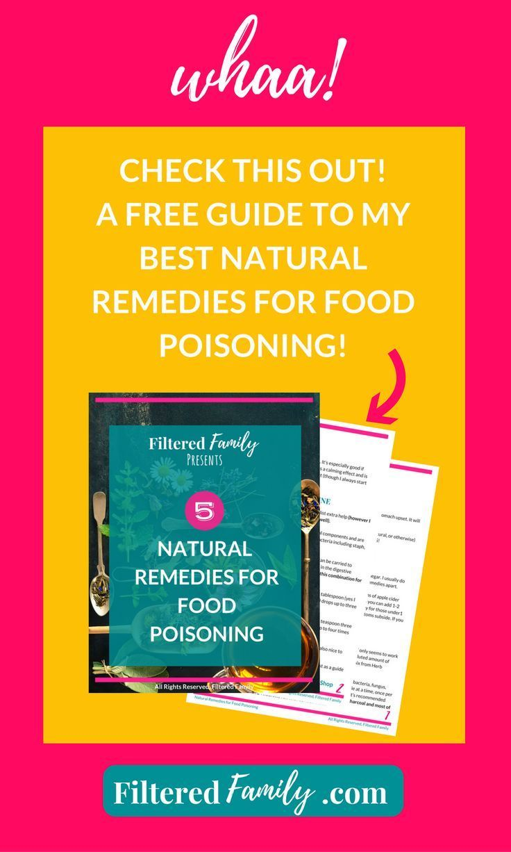 Natural remedy for food poisoning | What to do if you've got food poisoning. -- via http://FilteredFamily.com