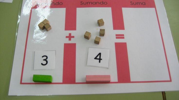 Regletas Cuisenaire: suma usando plantillas - Aprendiendo matemáticas