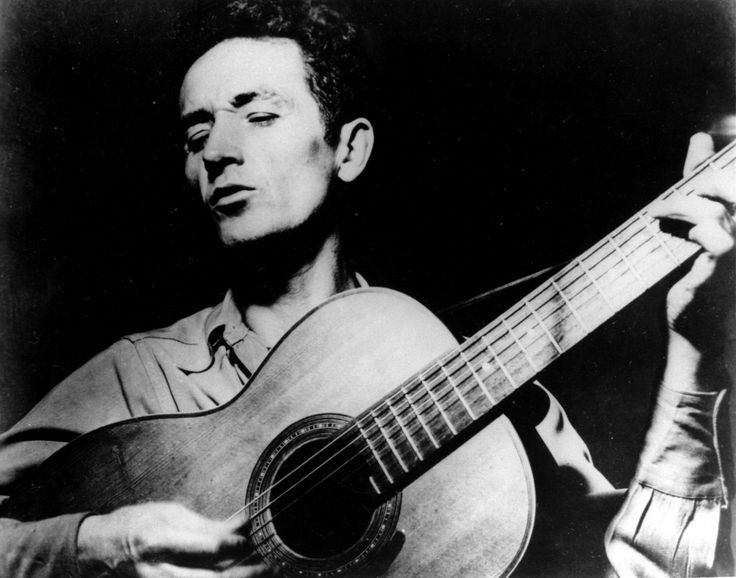 """""""Some men rob you with a six-gun -- others rob you with a fountain pen.""""  ~ Woody Guthrie // The unbelievable story of why Woody Guthrie hated Donald Trump's dad"""