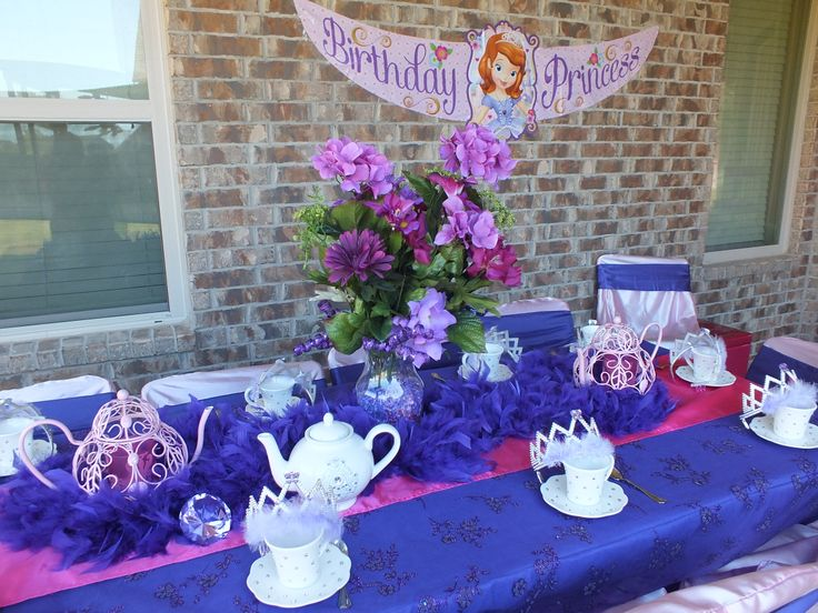 "Sofia the First Tea Party Setting  ""LIKE"" us on Facebook"