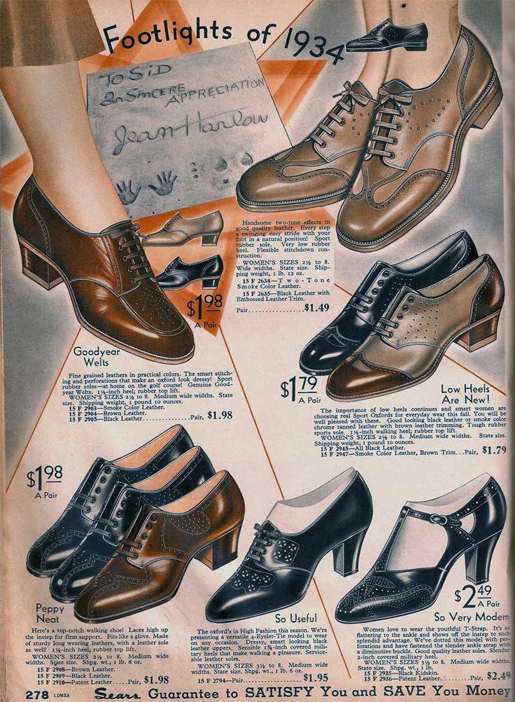 1934 Sears catalog--shoes                                                                                                                                                                                 More