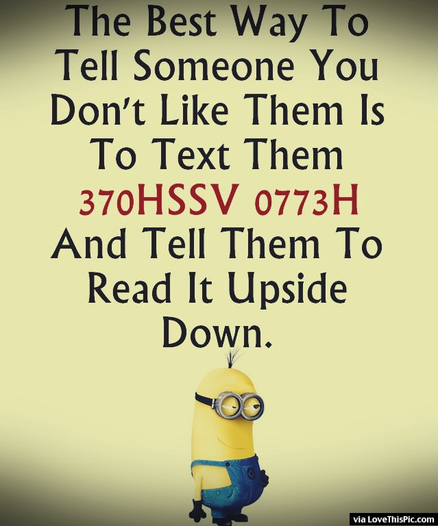 Funny Text To Your Friends Minion