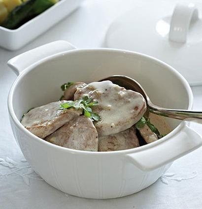 Pan-fried pork medallions with coconut-sweet potato salad   Woolworths TASTE