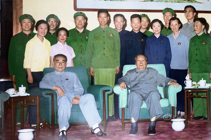Zhou Enlai and Mao (left to right). 1974-75 (?).
