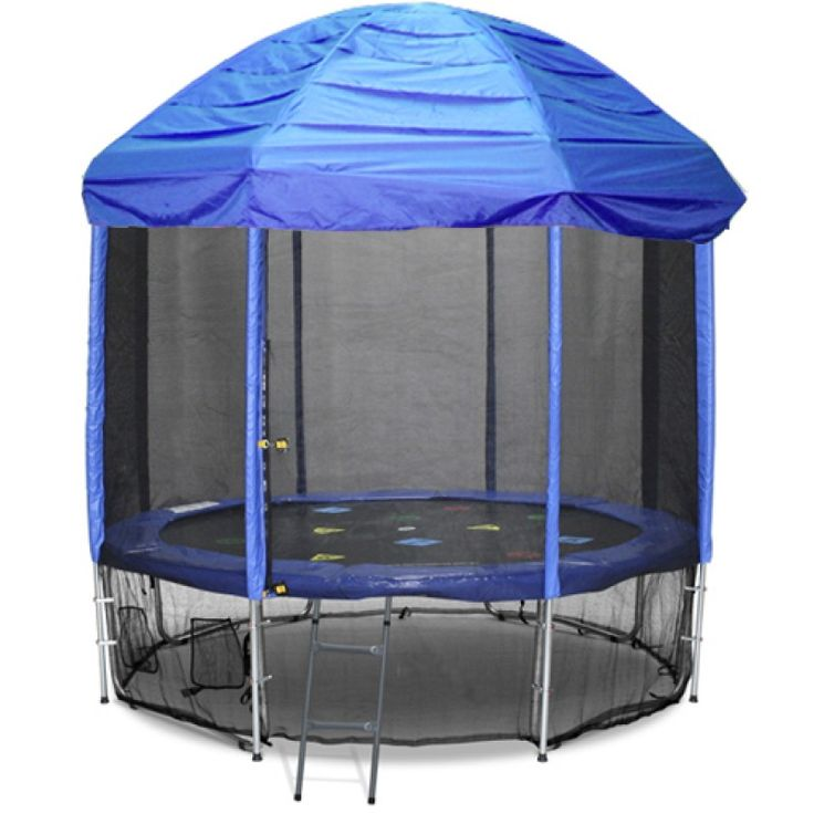 14FT TRAMPOLINE ROOF BLUE (Tr&oline not included you must have straight enclosure poles)  sc 1 st  Pinterest & 21 best Trampoline tops images on Pinterest | Springboard ...