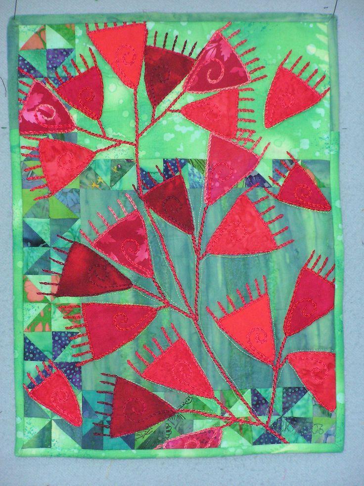 """Pohutukawa"" A quilt by Barbara Kavermann"