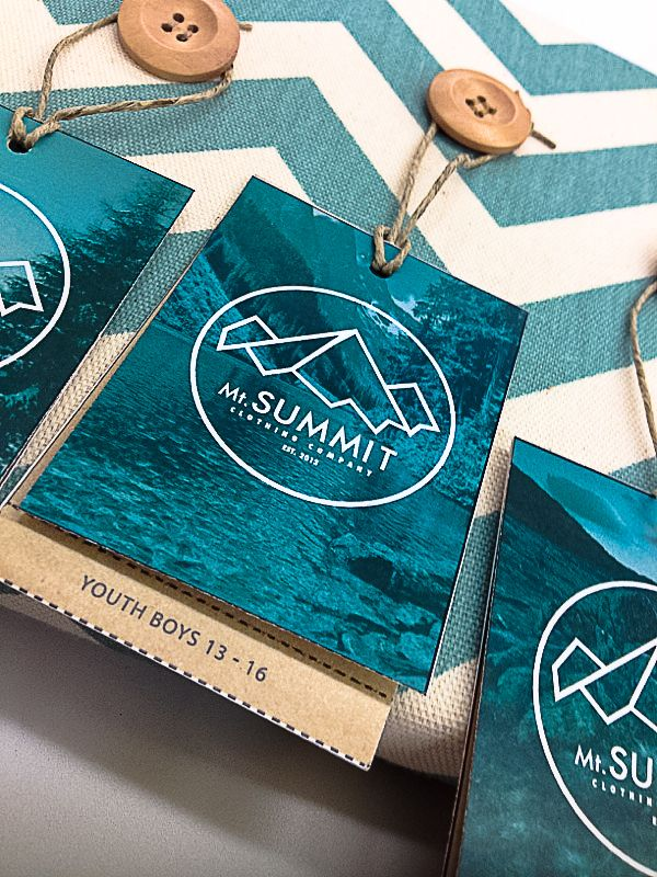 Mt.Summit Clothing Co. | Identity & Hangtags by Christopher D. Armstrong, via Behance