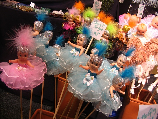kewpies on a stick! I'm pretty sure we got these at the circus!