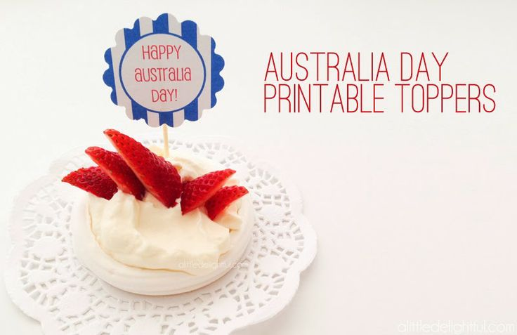 {printable} Australia Day Toppers and Flags