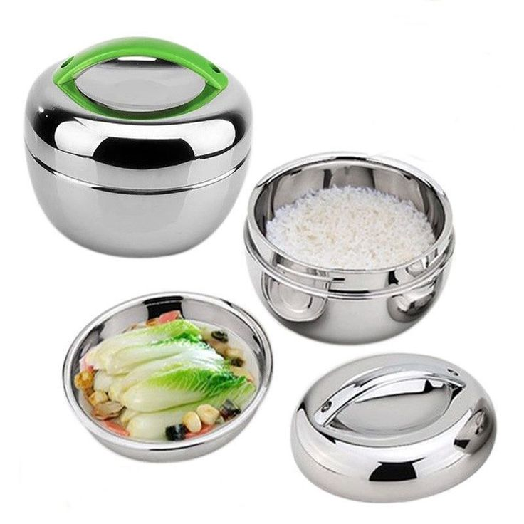 Portable Stainless Steel Bento Box Food Container Thermal Insulation Lunch Box