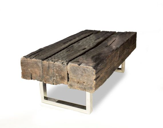 "Oak Coffee Table ""Old Joist"" - Reclaimed Wood"