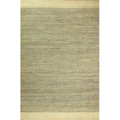 Laurel Foundry Modern Farmhouse Riendeau Hand-Knotted Cream/Gray Area Rug Rug Size: 5' x 7'6""