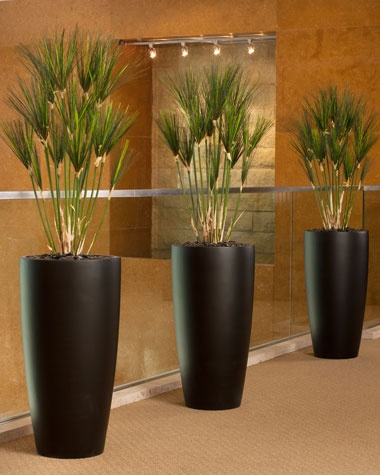 Authentic Silk Papyrus Plants Home Decor With Artificial Plants Chicago Apartment
