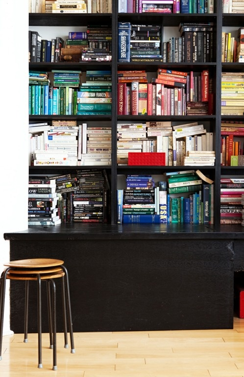 I Love Color Blocked Bookshelves