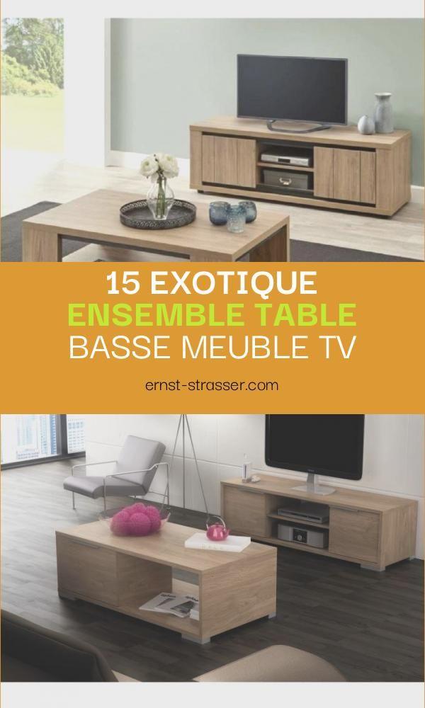 exotique ensemble table basse meuble tv
