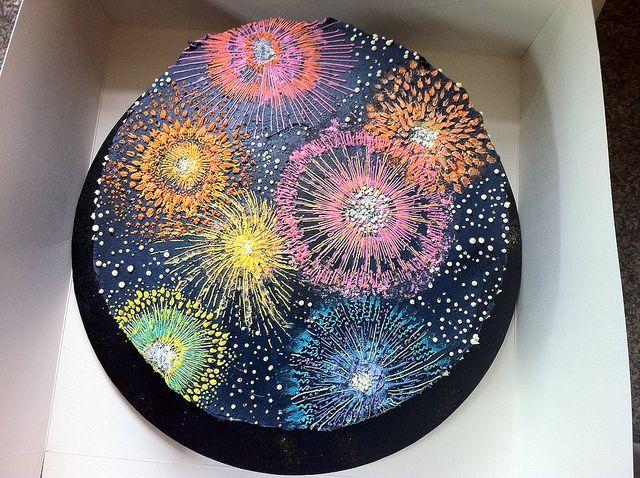 Firework Birthday Cake By Katja By Katjas Cakes Via