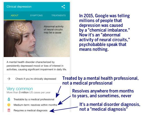 """At the end of August, Google decided to make available directly on its site (through a """"knowledge panel"""") the ability to take a depression screening quiz. We know a thing or two about online depression screening quizzes, because I put one of the first interactive depression screening quizzes online back in 1996, long before Google even existed. Here's the thing... Depression screening tests -- like the PHQ-9 that Google is now offering on its website -- are super helpful tools t..."""