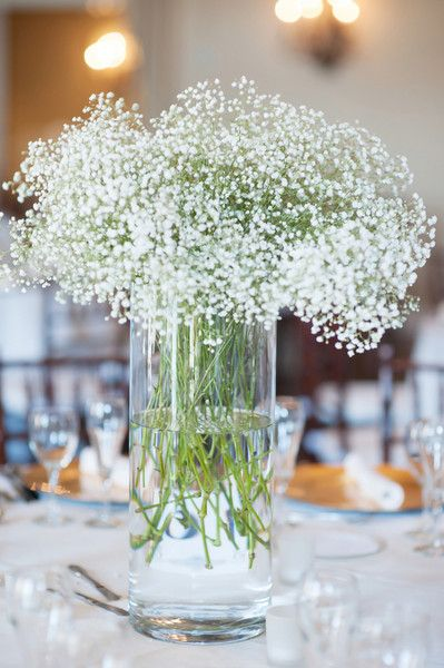 Beautiful #centerpeice. Very simple, yet fresh and classic! {Jen Shannon Photography}