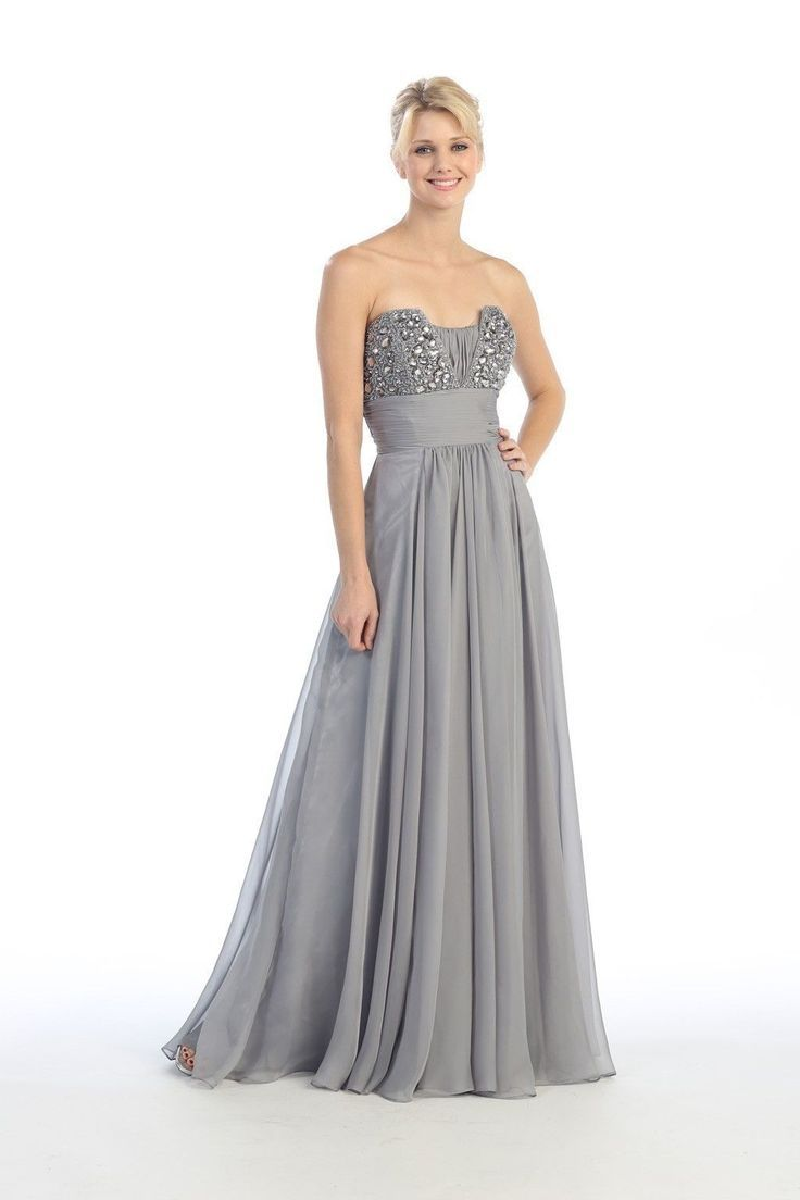 41 best silver bridesmaid dresses ideas images on pinterest this dress features a flattering a line silhouette with a unique beaded top the flowy chiffon skirt adds a delicate feel to the gown shown in silver ombrellifo Image collections