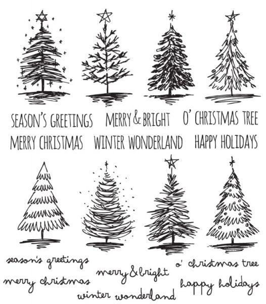 Tim Holtz - Scribbly Christmas Stamp