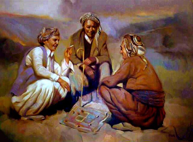 Beautiful painting of three men