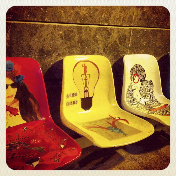 Sentarse con originalidad y colorido en  #Murcia