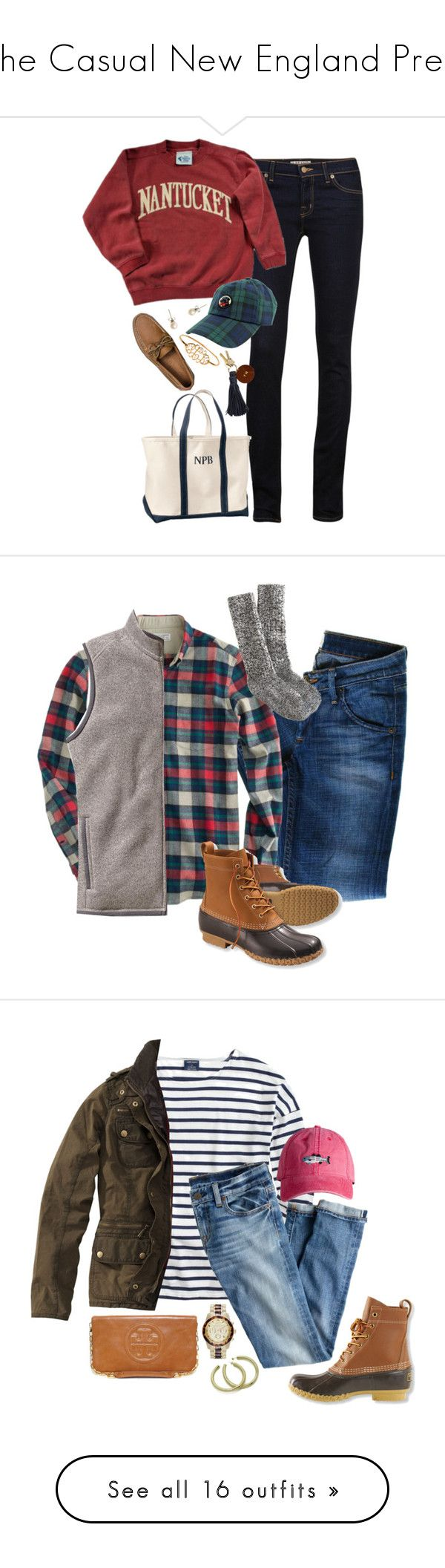 """The Casual New England Prep"" by preppy-katie ❤ liked on Polyvore featuring J Brand, Southern Proper, J.Crew, L.L.Bean, Sperry, Hudson Jeans, Patagonia, Saint James, Barbour and Sheila Fajl"