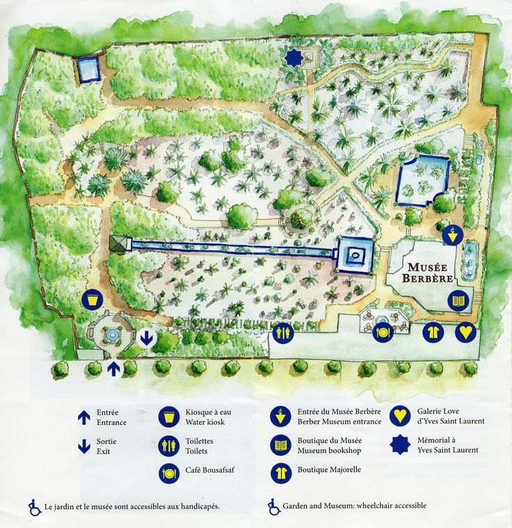 Plan d taill du jardin majorelle 2337 for Le jardin yves saint laurent marrakech