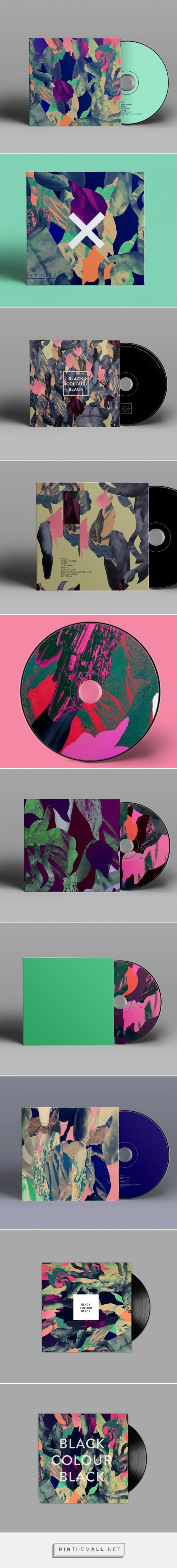 Make me some music | Colorful collages for music packaging | Designed by Anna Katrin Karlsson