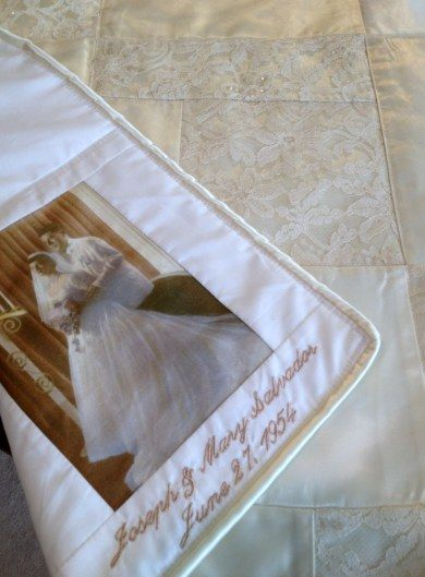 Wedding Dress Quilts from The Patchwork Bear
