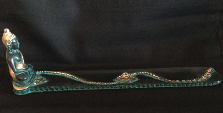 Wierookbrander Boeddha groen 28 cm € 7,95