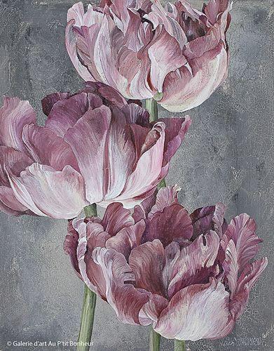 Linda Thompson, 'Floral Sisters 2', 11'' x 14'' | Galerie d'art - Au P'tit Bonheur - Art Gallery