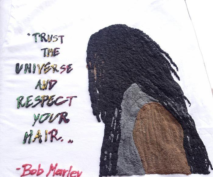 Dreadlocks Man Tshirt Rasta T-shirt Bob Marleys Quote