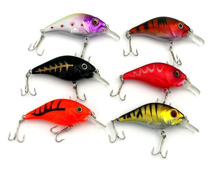 7.5CM 10.2G hooks 50pcs crankbait plastc fishing lures wobble pike bass fishing baits isca de pesca fishing tackles