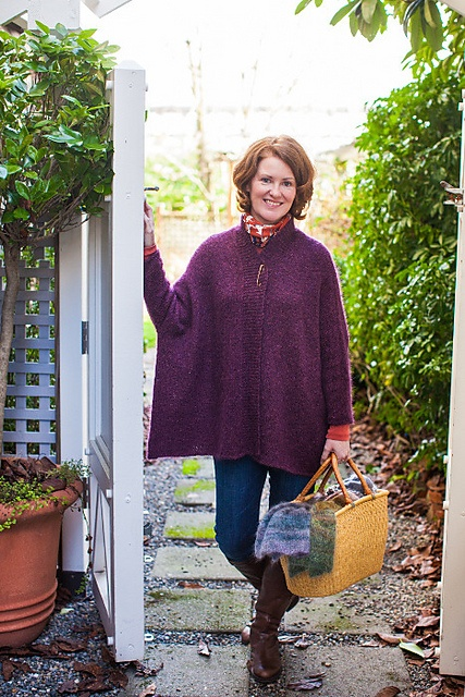 Ravelry: Project Gallery for Modern Wrapper pattern by Churchmouse Yarns and Teas
