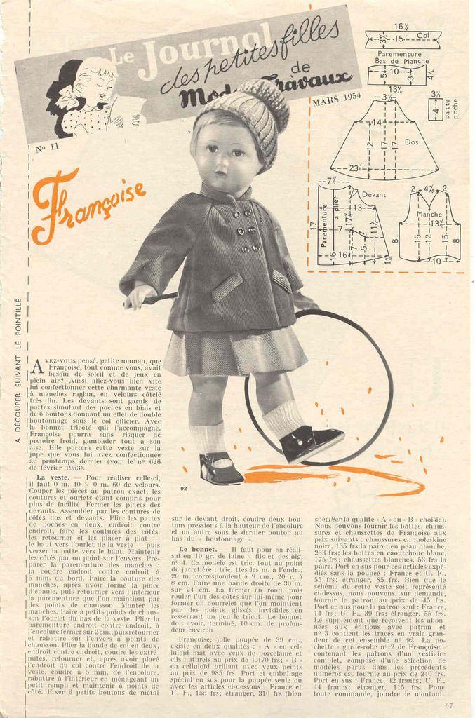 Modes et travaux mars 1954                                                                                                                                                                                 Plus