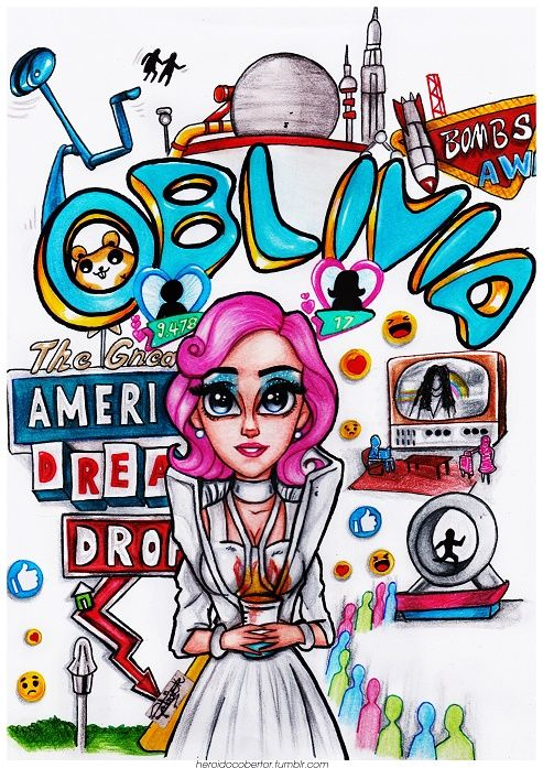 Katy Perry (Chained To The Rhythm)  Welcome to 'Oblivia', I think I've never done a drawing as colorful as this one.