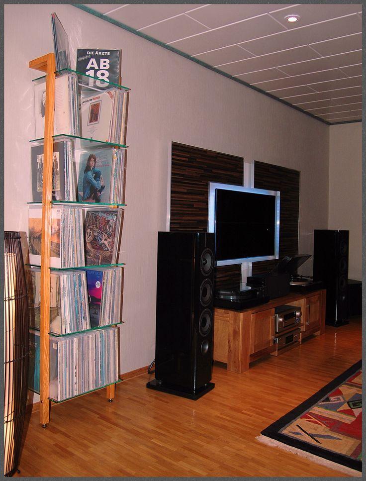 Quadra lp regal esche vinyl record shelving unit ash for Tree shelving unit