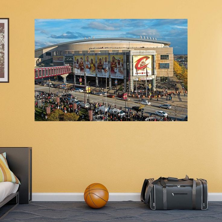 Fathead NBA Cleveland Cavaliers Outside The Q Arena Wall Mural - 17-10130