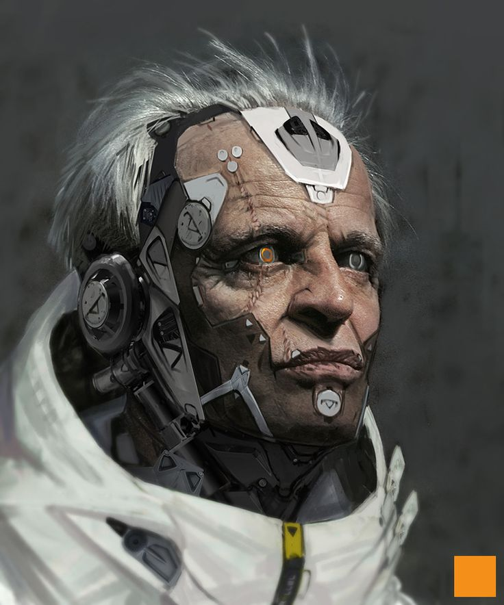 Cyborg Concepts (photo of Klaus Kinski used as a base for photoshop embellishments)