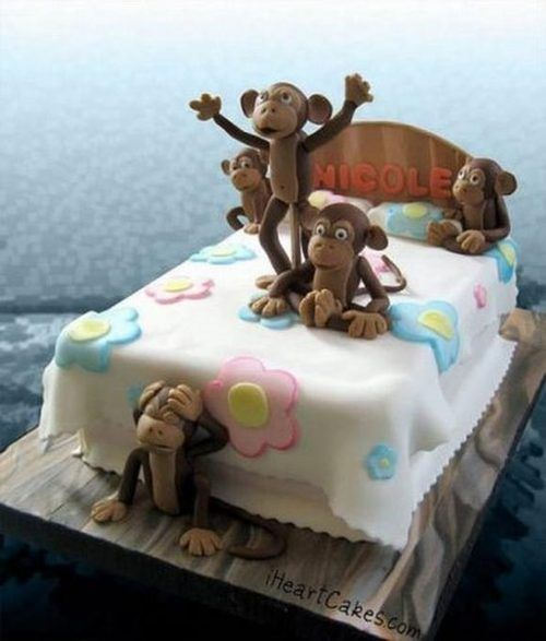 Monkeys Jumping on the Bed cake!!