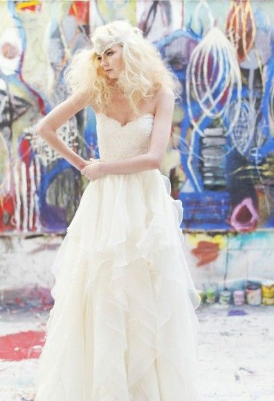 Hayley Paige wedding dress | Adonye Jaja Photography | see more on: http://burnettsboards.com/2014/03/8-artistic-bridal-styles/