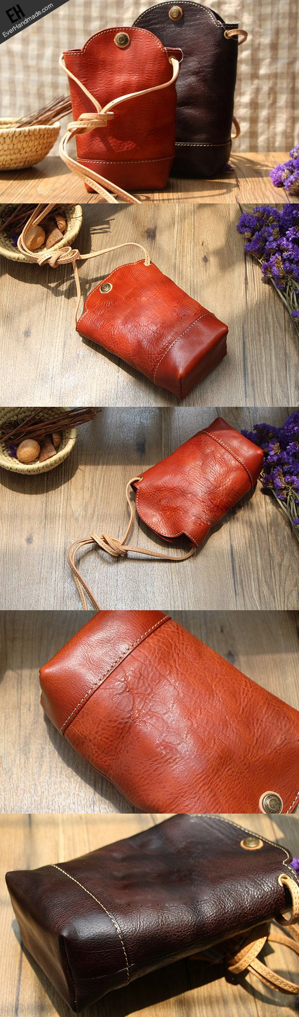 Handmade Leather bag for women leather phone bag shoulder bag