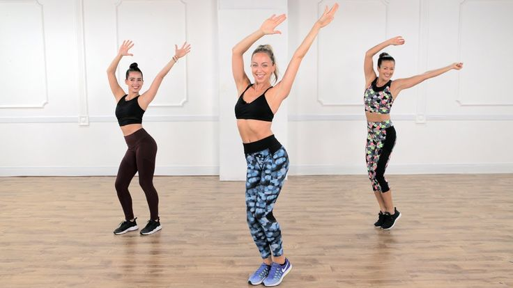 30-Minute Cardio Dance and Toning Workout | Class FitSugar - cardio takes a bit to get up there, maybe 10 min or more. but once we got moving PHEW!! def got a sweat. lots of plyo. liked how they slowed down in the middle and did some squats and stuff.